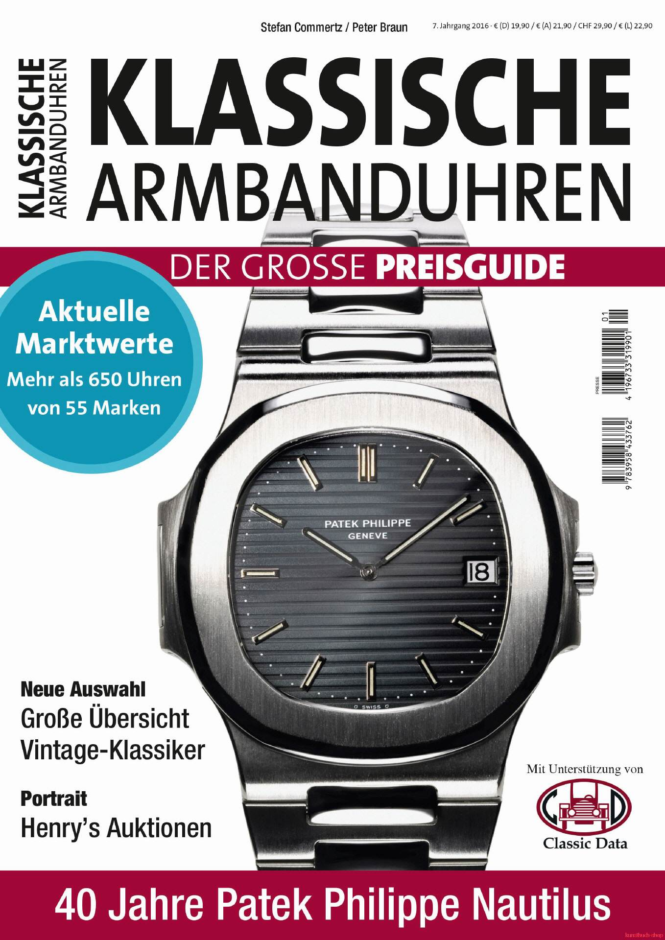 Klassische Armbanduhren 2016
