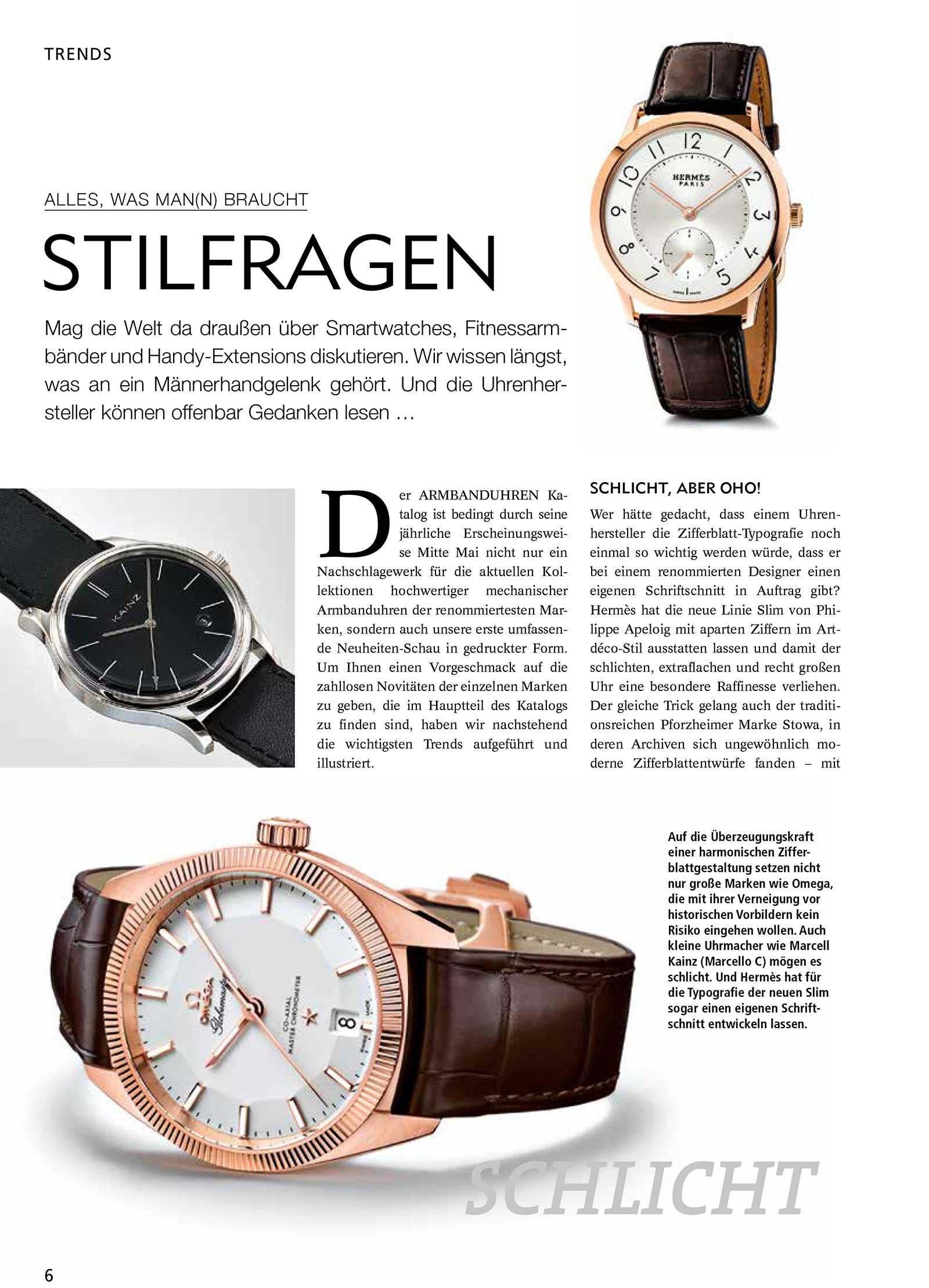 Armbanduhren Katalog 2015